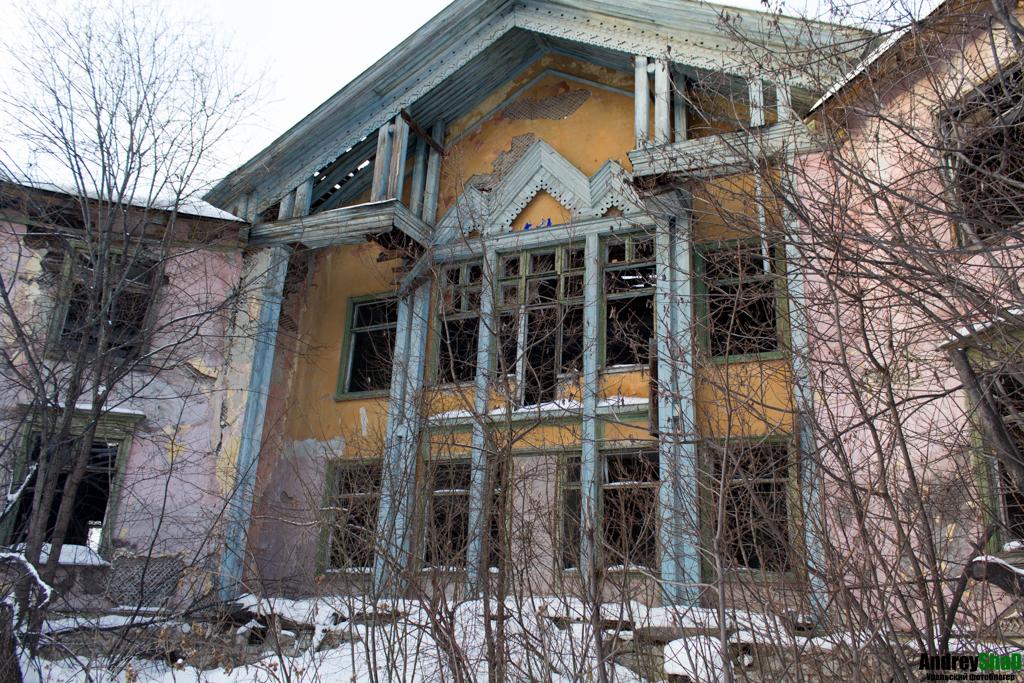 Бывший санаторий озера Молтаево
