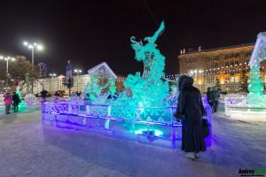 Скульптуры в ледовом городке Екатеринбурга